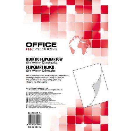 papier do flipchartów 4 alibiuro.pl Blok do flipchartów OFFICE PRODUCTS gładki 65x100cm 50 kart. biały 52