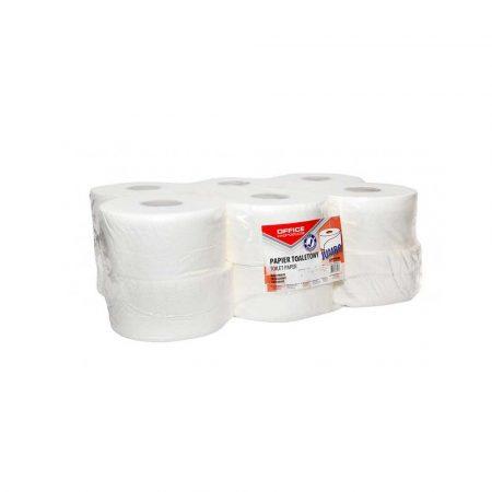 papier toaletowy 4 alibiuro.pl Papier toaletowy celulozowy OFFICE PRODUCTS Jumbo 2 warstwowy 120m 12szt. biały 64