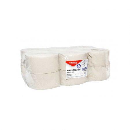 papier toaletowy 4 alibiuro.pl Papier toaletowy makulaturowy OFFICE PRODUCTS Jumbo 1 warstwowy 120m 12szt. szary 35