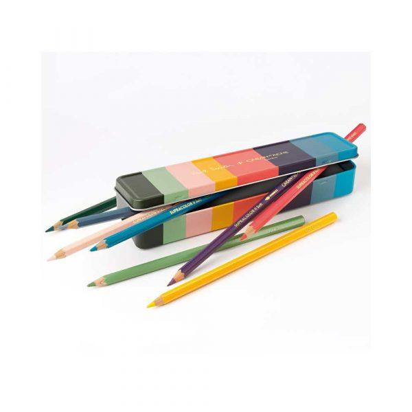 pastele 4 alibiuro.pl Kredki CARAN D Inch ACHE Supracolor Soft Paul Smith 3 sześciokątne 8szt. mix kolorów 15