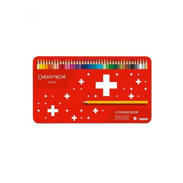 pastele 4 alibiuro.pl Kredki CARAN D Inch ACHE Swisscolor Aquarelle z efektrm akwareli sześciokątne 40szt. mix kolorów 38