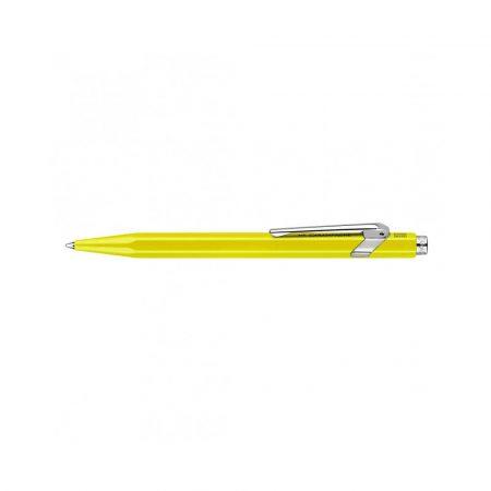 pióra żelowe 4 alibiuro.pl Długopis CARAN D Inch ACHE 849 Line Fluo M żółty 12