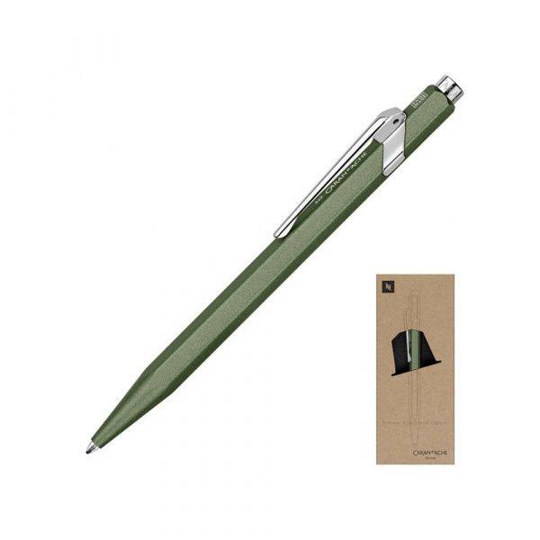 pióra żelowe 4 alibiuro.pl Długopis CARAN D Inch ACHE 849 Nespresso Green India M w pudełku zielony 51
