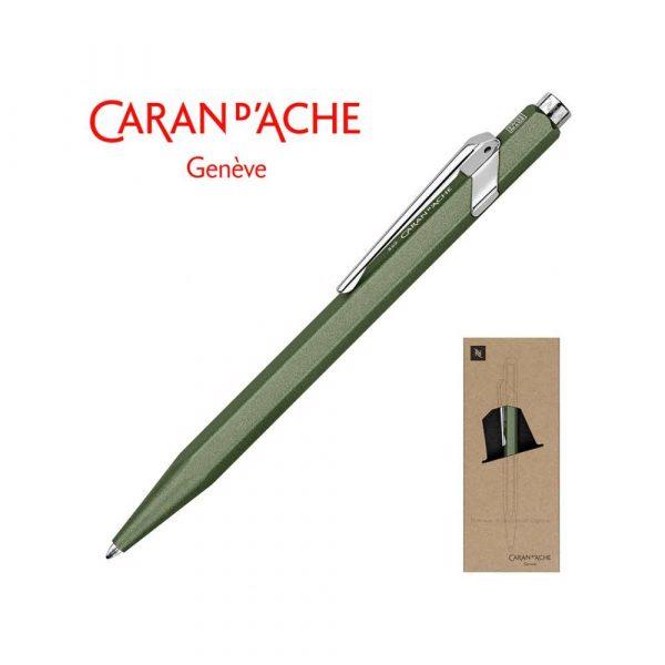 pióra żelowe 4 alibiuro.pl Długopis CARAN D Inch ACHE 849 Nespresso Green India M w pudełku zielony 85