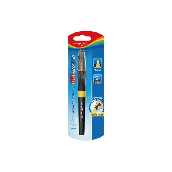 pióro żelowe 4 alibiuro.pl Długopis żelowy KEYROAD Smoozzy 0 7mm. blister mix kolorów 9