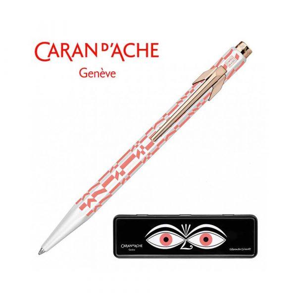 pióro żelowe 4 alibiuro.pl Długopis CARAN D Inch ACHE 849 Alexander Girard Pink M w pudełku różowy 0