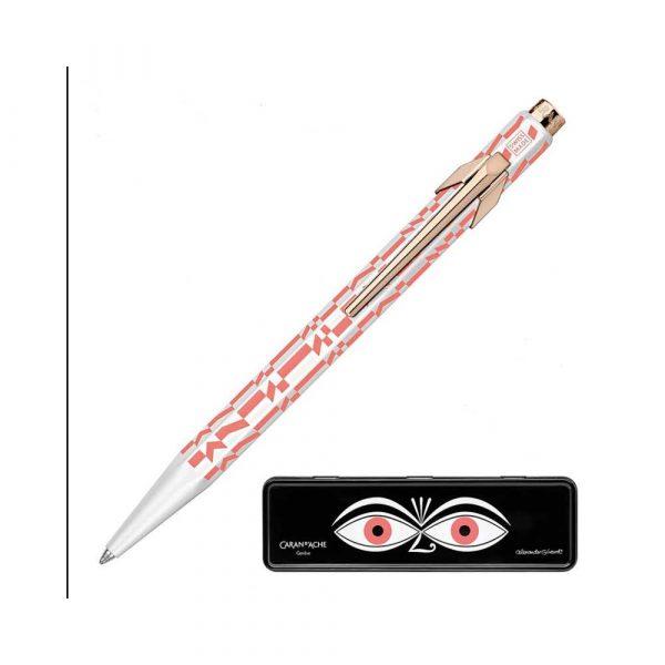 pióro żelowe 4 alibiuro.pl Długopis CARAN D Inch ACHE 849 Alexander Girard Pink M w pudełku różowy 48