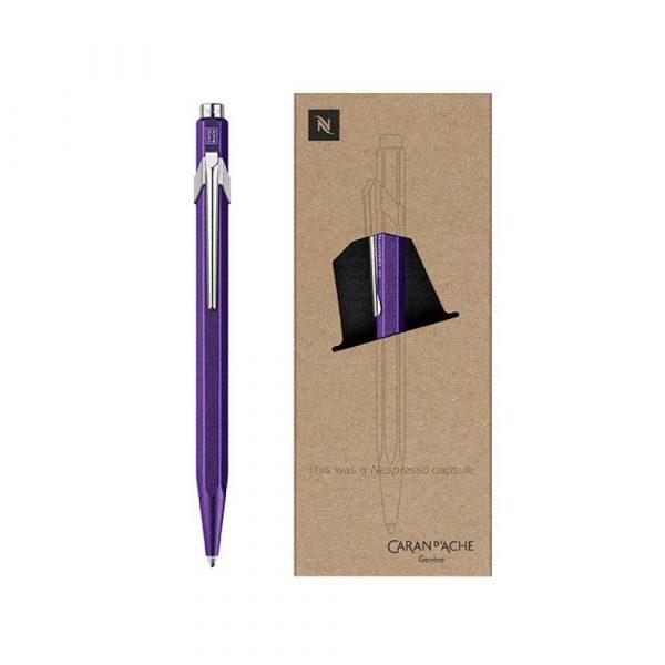 pióro żelowe 4 alibiuro.pl Długopis CARAN D Inch ACHE 849 Nespresso Arpeggio M w pudełku fioletowy 47