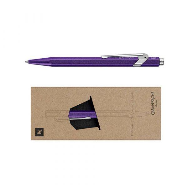 pióro żelowe 4 alibiuro.pl Długopis CARAN D Inch ACHE 849 Nespresso Arpeggio M w pudełku fioletowy 70