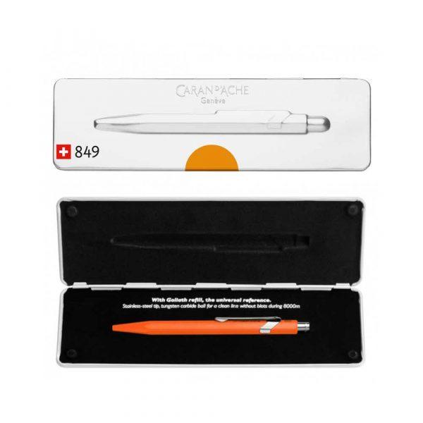pióro żelowe 4 alibiuro.pl Długopis CARAN D Inch ACHE 849 Pop Line Fluo M w pudełku pomarańczowy 44