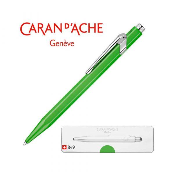 pióro żelowe 4 alibiuro.pl Długopis CARAN D Inch ACHE 849 Pop Line Fluo M w pudełku zielony 2