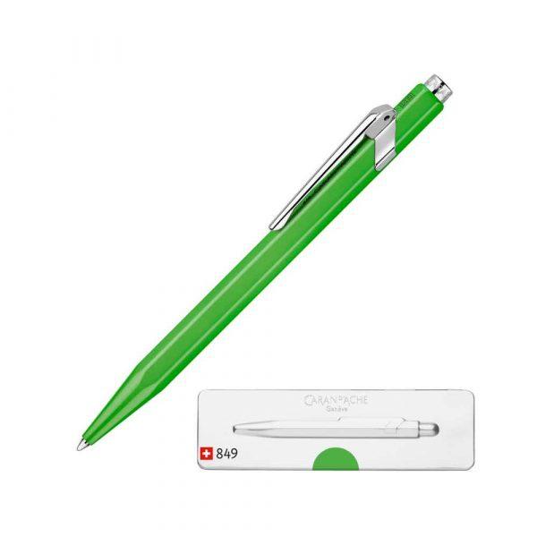 pióro żelowe 4 alibiuro.pl Długopis CARAN D Inch ACHE 849 Pop Line Fluo M w pudełku zielony 34