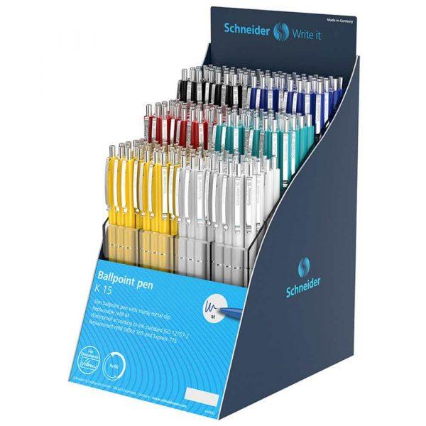 pióro żelowe 4 alibiuro.pl Display długopisów automatycznych SCHNEIDER K15 216 szt. mix kolorów 42