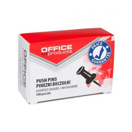 pinezki do tablic 4 alibiuro.pl Pinezki beczułki OFFICE PRODUCTS 100szt. mix kolorów 47