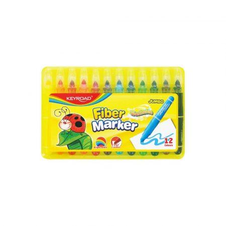 pisaki dwustronne 4 alibiuro.pl Flamastry KEYROAD Jumbo Smoozy Art. 12szt. zmywalne pudełko mix kolorów 69