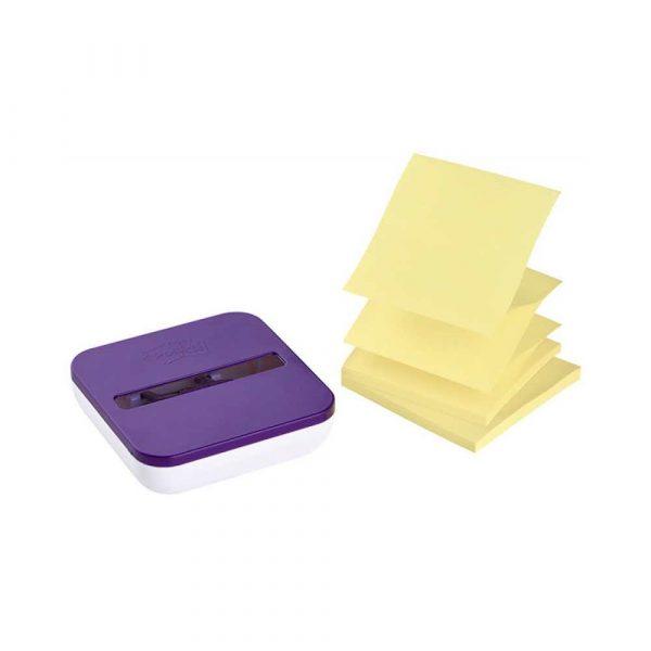 podajnik do taśmy 4 alibiuro.pl Podajnik do karteczek samoprzylepnych POST IT Z Notes VD 330 fioletowy w zestawie 2 bloczki Super Sticky Z Notes 82