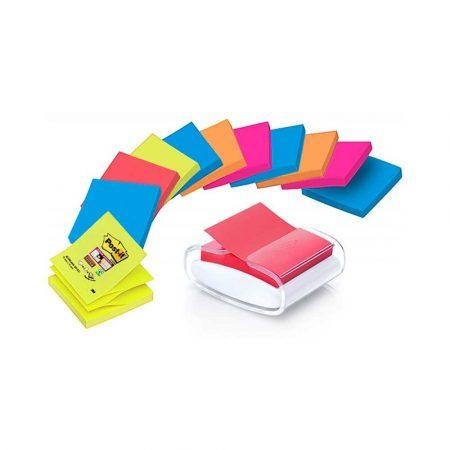 podajniki do taśmy 4 alibiuro.pl Podajnik do bloczków samoprzylepnych POST IT Pro PRO W 12SSCOL R330 biały w zestawie 12 bloczków Super Sticky Z Notes 79