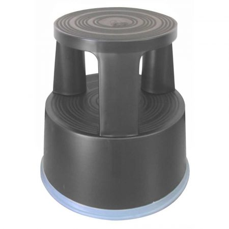 podnóżki ergonomiczne 4 alibiuro.pl Taboret biurowy Q CONNECT mobilny plastikowy ciemnoszary 27