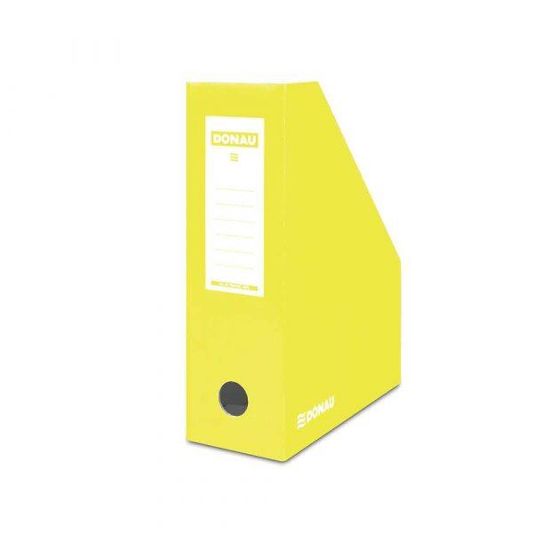 pojemnik na dokumenty 4 alibiuro.pl Pojemnik na dokumenty DONAU karton ścięty A4 100mm lakierowany żółty 10