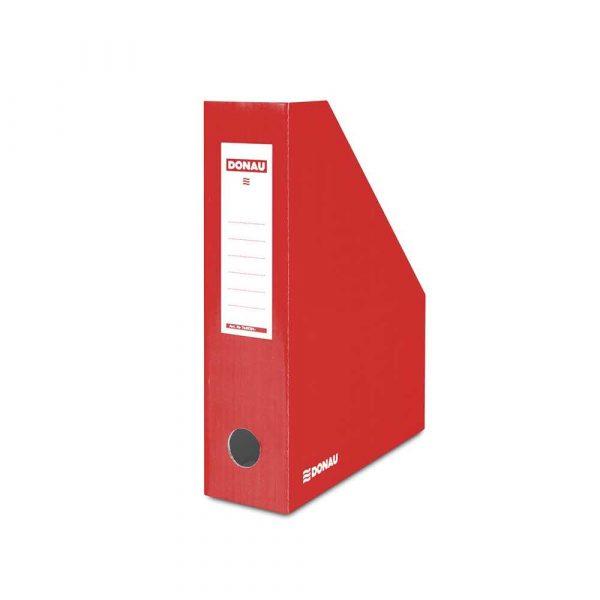 pojemnik na dokumenty 4 alibiuro.pl Pojemnik na dokumenty DONAU karton ścięty A4 80mm lakierowany czerwony 16