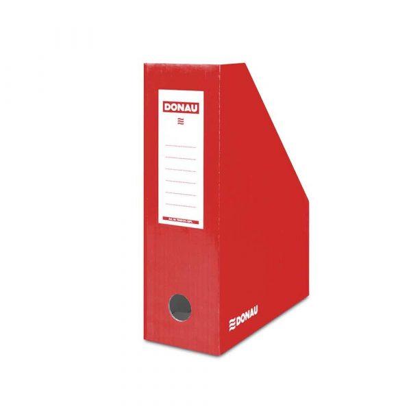 pojemniki na dokumenty 4 alibiuro.pl Pojemnik na dokumenty DONAU karton ścięty A4 100mm lakierowany czerwony 56