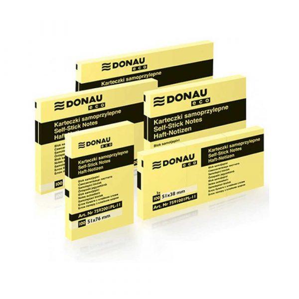 post ity 4 alibiuro.pl Bloczek samoprzylepny DONAU Eco 101x76mm 1x100 kart. jasnożółty 5