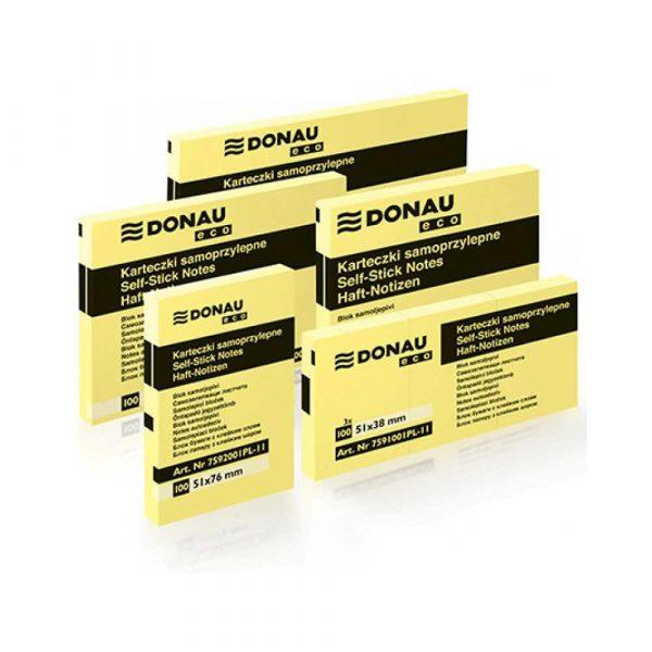 post ity 4 alibiuro.pl Bloczek samoprzylepny DONAU Eco 38x51mm 1x100 kart. jasnożółty 86