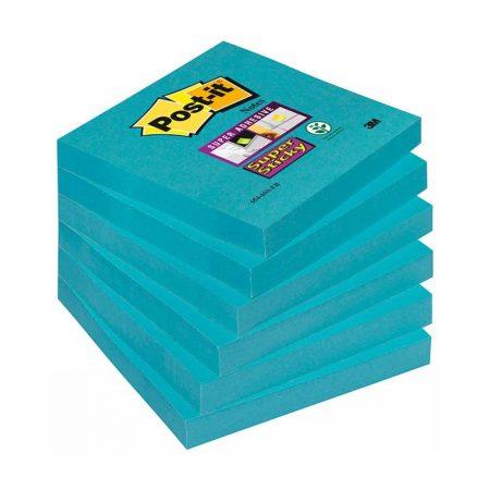 post ity 4 alibiuro.pl Bloczek samoprzylepny POST IT Super Sticky 654 6SS EB 76x76mm 1x90 kartek niebieski 15