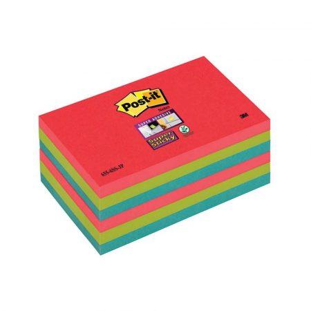 post ity 4 alibiuro.pl Bloczek samoprzylepny POST IT Super Sticky 655 6SS JP 127x76xmm 6x90 kart. energiczne kolory 81