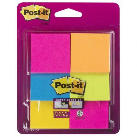 post ity 4 alibiuro.pl Karteczki samoprzylepne POST IT Super Sticky 6916S YPOB 47 6x47 6mm 6x45 kart. mix kolorów 16