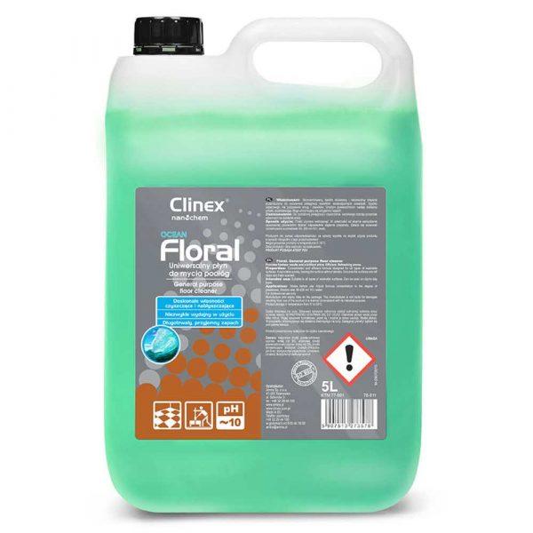 proszki do prania 4 alibiuro.pl Uniwersalny płyn CLINEX Floral Ocean 5L do mycia podłóg 96