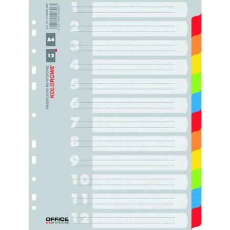 przekładki 4 alibiuro.pl Przekładki OFFICE PRODUCTS karton A4 227x297mm 12 kart mix kolorów 30