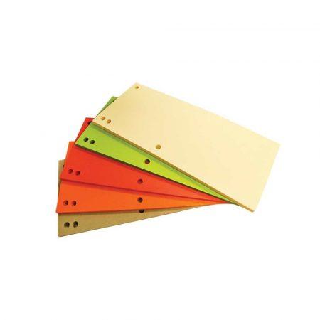 przekładki archiwizacyjne 4 alibiuro.pl Przekładki OFFICE PRODUCTS karton 1 3 A4 235x105mm 100szt. mix kolorów 90