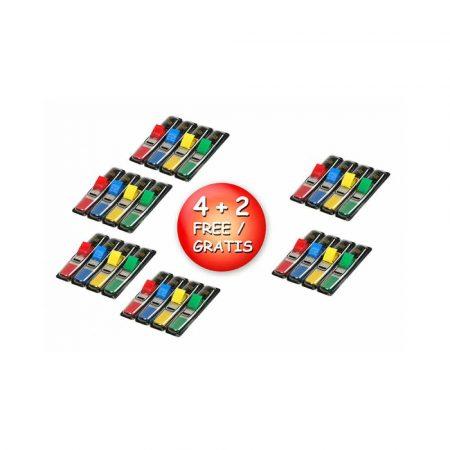 przekładki kartonowe 4 alibiuro.pl Zestaw promocyjny zakładek POST IT 683 4 PP 12x43mm 4 2x35 kart. mix kolorów 2 GRATIS 77