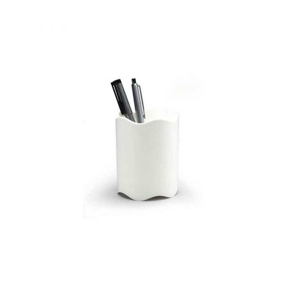 przybornik na biurko 1 alibiuro.pl 1701235 Kubek na długopisy Trend Durable biały 1701235010 25