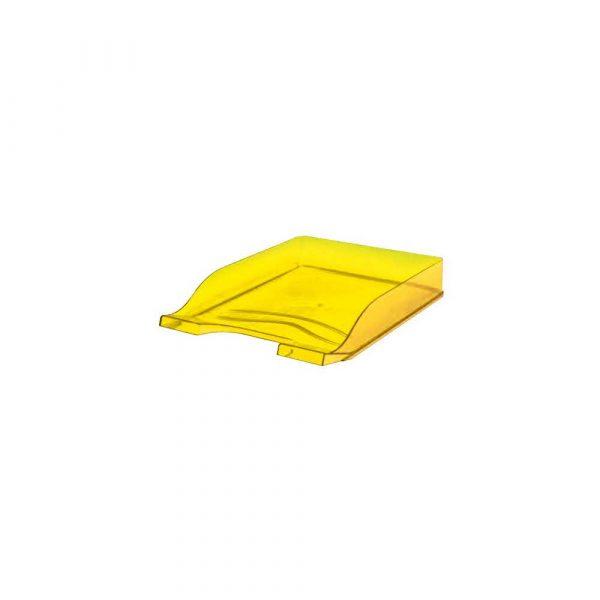 przybornik na biurko 1 alibiuro.pl Półka na dokumenty Colors BANTEX przezroczysty żółty 61