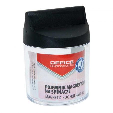 przybornik na biurko 4 alibiuro.pl Pojemnik magn. na spinacze OFFICE PRODUCTS okrągły bez spinaczy transparentny 64