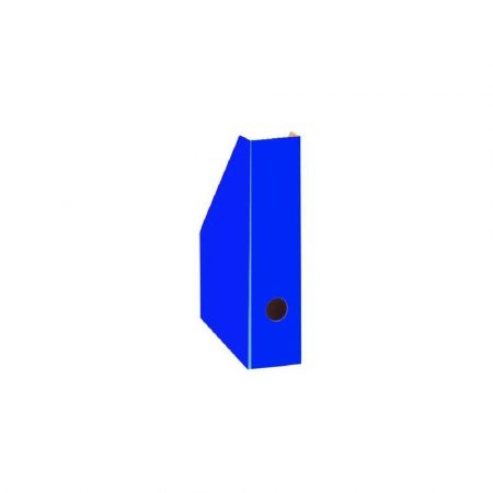 przyborniki na biurko 1 alibiuro.pl H3500000 Pojemnik kartonowy na czasopisma Bantex niebieski 32