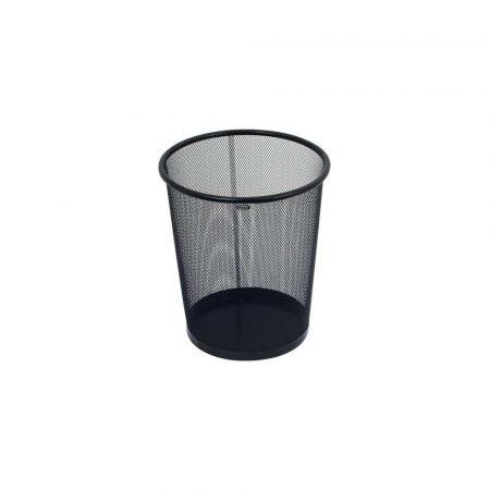 przyborniki na biurko 1 alibiuro.pl Kosz na papier GRAND GR 020 siatka metalowy czarny 12 litrów 51
