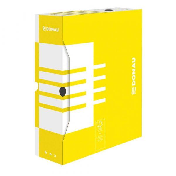 pudło archiwizacyjne 4 alibiuro.pl Pudło archiwizacyjne DONAU karton A4 100mm żółte 82