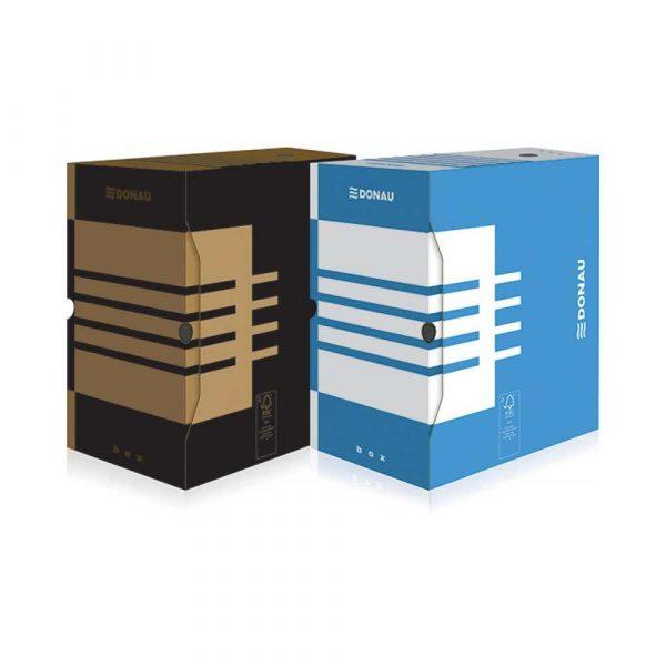 pudło archiwizacyjne 4 alibiuro.pl Pudło archiwizacyjne DONAU karton A4 200mm niebieskie 59