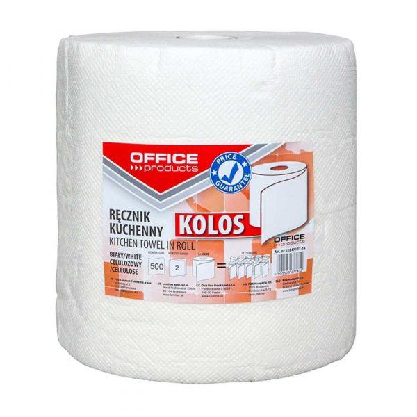 ręcznik kuchenny 4 alibiuro.pl Ręczniki kuchenne celulozowe OFFICE PRODUCTS Kolos 2 warstwowe 500 listków 100m białe 5