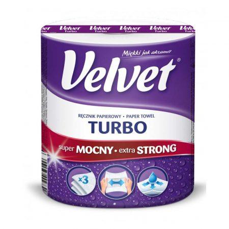 ręcznik papierowy 4 alibiuro.pl Ręcznik w roli celulozowy VELVET Turbo 3 warstwowy 300 listków biały 90