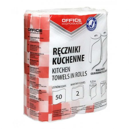 ręcznik w roli 4 alibiuro.pl Ręczniki kuchenne celulozowe OFFICE PRODUCTS 2 warstwowye 50 listków 9 25m 2szt. białe 24