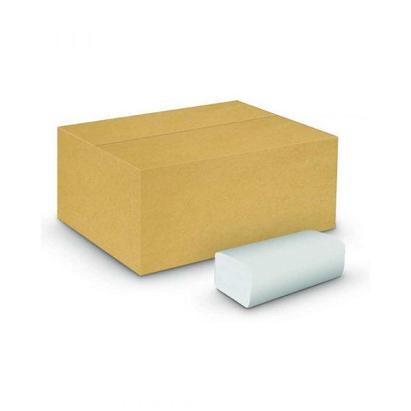 ręczniki papierowe zz 4 alibiuro.pl Ręczniki składane ZZ celulozowe VELVET Economy 2 warstwowe 3000 listków 20szt. białe 32