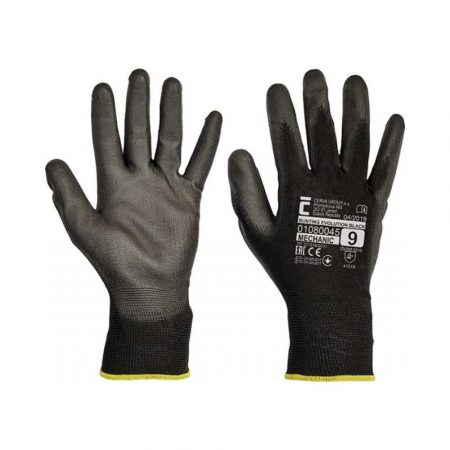 rękawice montażowe 4 alibiuro.pl Rękawice Evolution Black montażowe rozm. 9 czarne 83