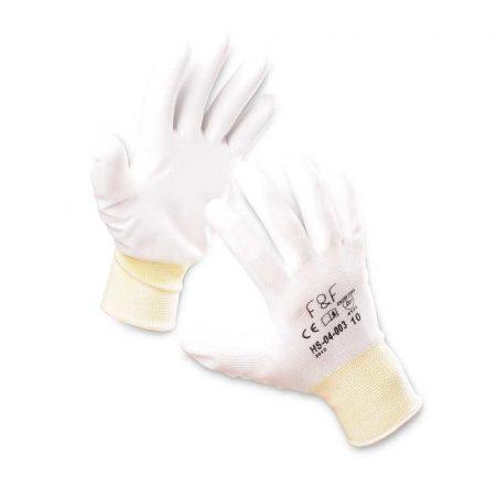 rękawice montażowe 4 alibiuro.pl Rękawice ekon. Resistance W HS 04 003 montażowe poliester poliuretan rozm. 10 białe 9
