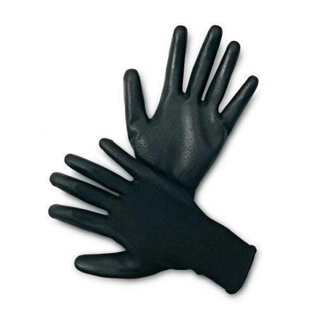 rękawiczki ochronne 4 alibiuro.pl Rękawice ekon. Resistance B HS 04 003 montażowe poliester poliuretan rozm. 10 czarne 38