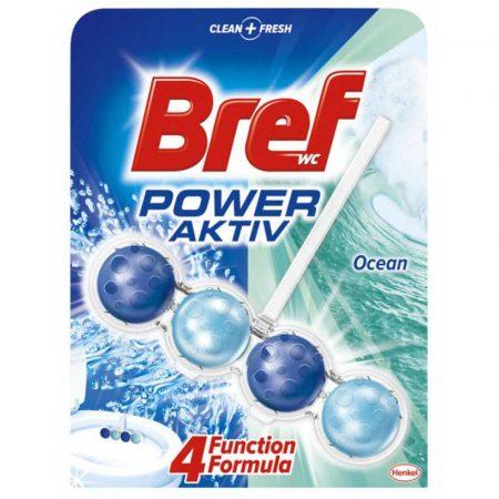 środki czystości 4 alibiuro.pl Kulki toaletowe BREF Power Aktiv Ocean 50g 92