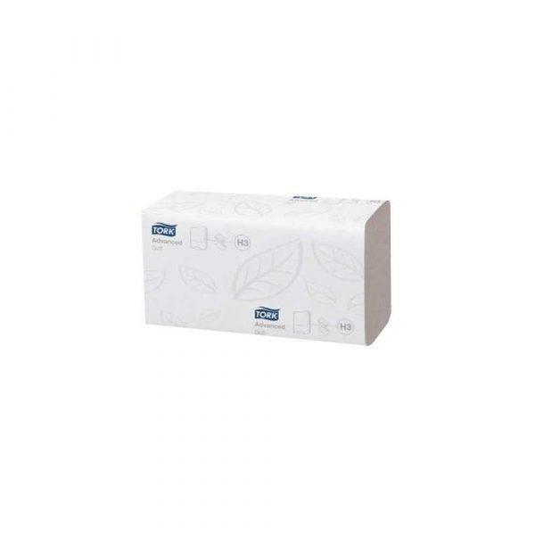 środki czystości i higiena 1 alibiuro.pl Ręcznik ZZ Advance Singlefold H3 2 warstwowy biały 15x250szt 290163 TORK 49